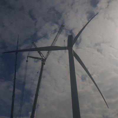 travaux sur une éolienne